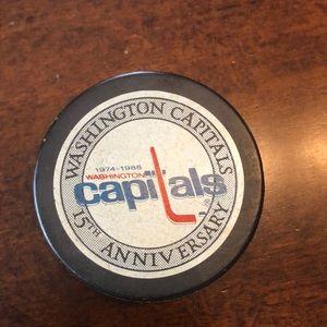 Washington Capitals 15th Anniversary Hockey Puck